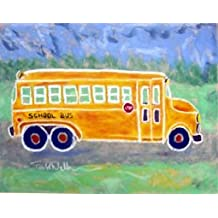 Todd Walk Galleries School Bus - Kids Framed Art Print