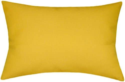 TPO Design Sunbrella Sunflower Indoor Outdoor Solid Pillow 12×18 Rectangle