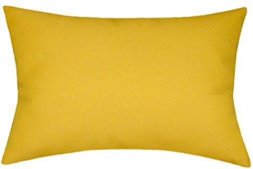 Sunbrella Sunflower Indoor/Outdoor Solid Pillow 12x18 (Sunbrella Sunflower)