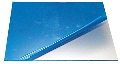 """.236/"""" x 12/"""" x 12/"""" Clear PETG Plastic Sheet Co-Polyester"""
