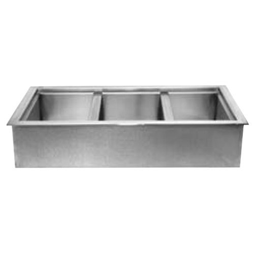 Wells ICP-300 45'' Three Pan Drop In Ice Cooled Cold Food Well