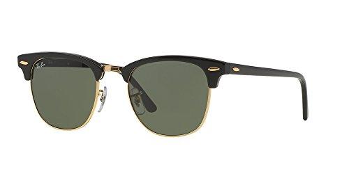 Ray Ban Sunglasses Clubmaster 3016 (51 mm, Solid Black - 51 Ray Ban 3016