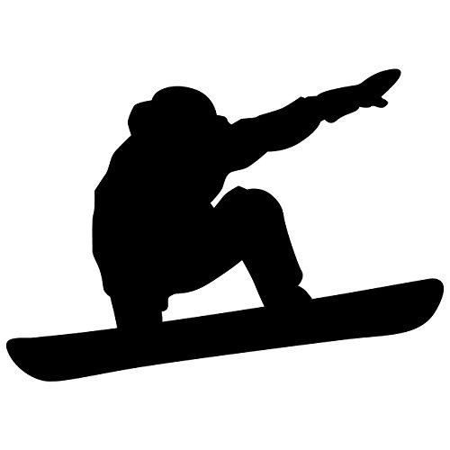 Snowboarding Wall Decal Sticker 2 - Decal Stickers and Mural for Kids Boys Girls Room and Bedroom. Snow Boarding Wall Art for Home Decor and Decoration - Snowboard Silhouette Mural