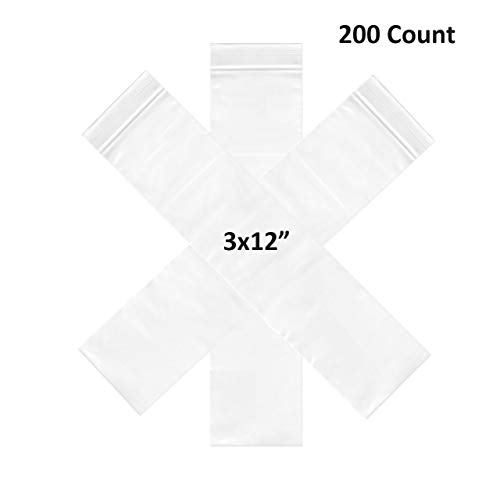 (3X12 Mil Resealable Zipper Small Size Plastic Storage Poly Bags)