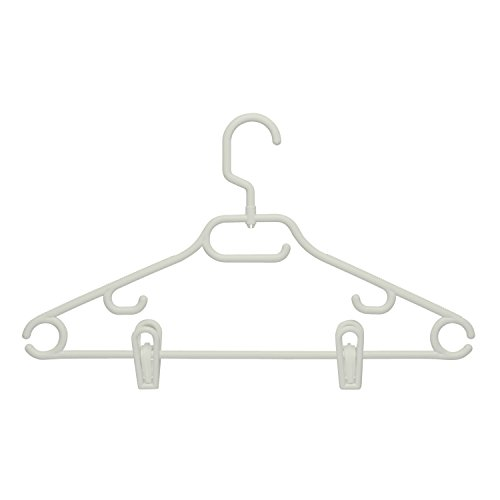 (Honey-Can-Do HNG-01364 Swivel Hanger with Dress Notches and Clips, 3-Pack, White)
