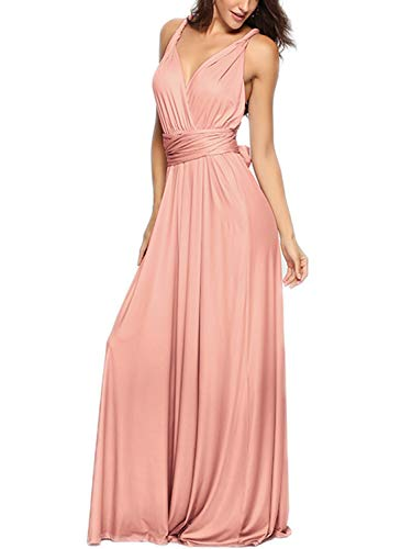 Maternity Dresses Bridal Party - PERSUN Women's Convertible Multi Way Wrap Maxi Dress Long Party Grecian Dresses