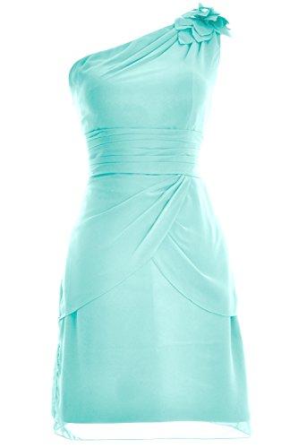 MACloth Women One Shoulder Short Bridesmaid Cocktail Dress Formal Evening Gown Aqua 1Oi8a02
