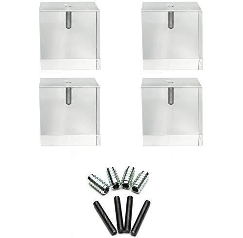Acrylic Cube Furniture Feet- 3