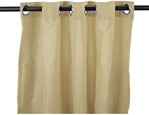 1 pieza 96 pulgadas al aire libre Gazebo de color sólido color caqui cortina, marrón exterior