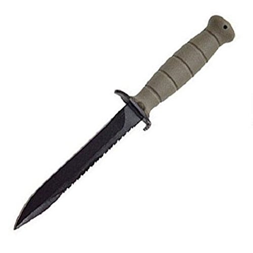 """Glock KD039179 Fixed Field Knife w/Saw 6.5"""" Blade 11.4"""" Overall FDE"""