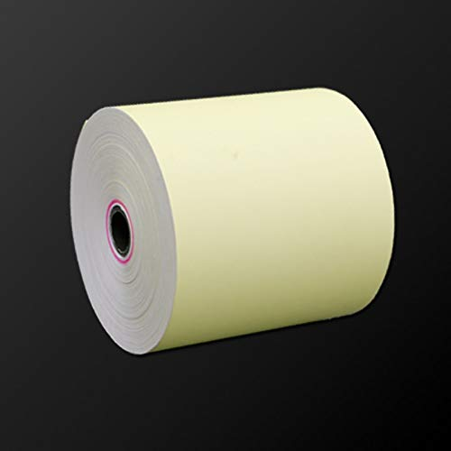 Printer Parts Colorful 80mm80mm(12 Rolls/Box) Thermal Receipt Paper with Optional Yellow or Pink Color Cash Register use for Supermarket by Yoton (Image #1)