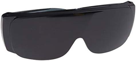 安全眼鏡 保護作業 保護ゴーグル 労働眼鏡 耐塵性 高品質 全9色 - ブラック
