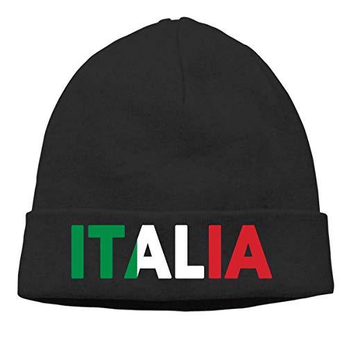 Hip-Hop Knitted Hat Mens Womens Italia Italy Italian Flag Unisex Cuffed Plain Skull Knit Hat Cap Head Cap ()