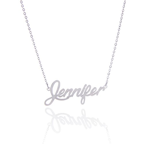 AOLO Stainless Steel Chic Necklace with Name Jennifer