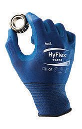 [Ansell Size 10 HyFlex® 18 Gauge Ultra Light Weight Multi-Purpose Dark Blue FORTIX Nitrile Foam Dipped Palm Coated Work Gloves With Blue Nylon And Spandex® Liner And Knit Wrist] (Nylon Glove Liners)