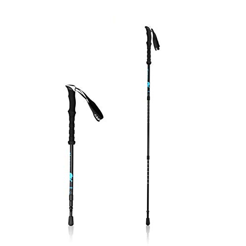 Carbon Fiber Walking Poles,Lightweight Hiking Stick, Nordic Trekking Pole Handle with Bag for Women and Men Sticks,Black