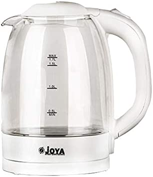 Joya Electric Kettle 1.7L Colour: White with Clear glass