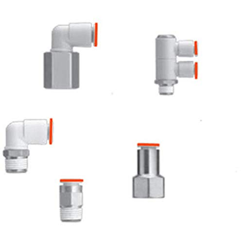 Fitting; Male Run tee; for 3/8'' Tube; 3/8NPT Port, Pack of 5 by smc-corporation (Image #1)