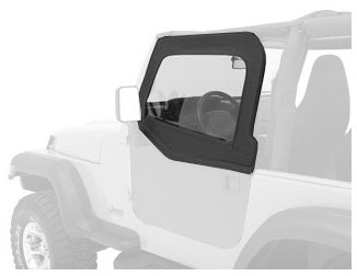 Bestop 51793-35 Black Diamond HighRock 4X4 Element Door Upper Fabric Door Set for 1997-2006 Wrangler 2-Door and Unlimited - Front