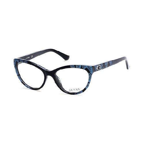 Guess Eyeglasses GU2554 GU/2554 005 Black/Bright Blue Cat Eye Optical Frame 52mm (Guess Eye Glass Frames)