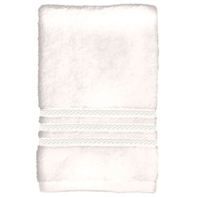 (Sam Hedaya 8181-BATH/WHT 24x54 WHT Braided Towel - Quantity 4)