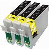 Prestige Cartridge T1281 Lot de 3 Cartouches d'encre compatible avec Imprimante Epson Stylus S22, SX125, SX130, SX235W, SX420W, SX425W, SX435W, SX438W, SX445W, SX445WE, Office BX305F, BX305FW, BX305FW, Noir