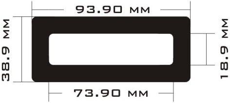 Top Small DEMCiflex Dust Filter for Silverstone FT03 Black Frame//Black Mesh