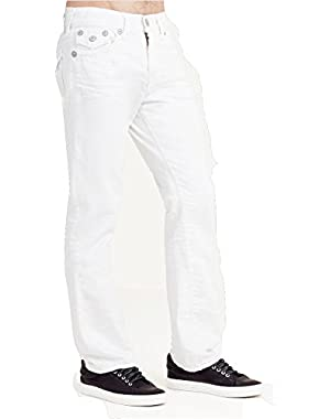 Men's Ricky w/ Flap Relaxed Straight Leg Jeans in Optic White