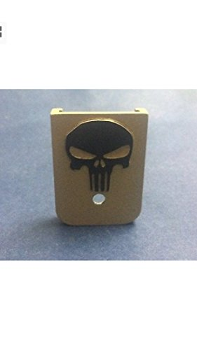 "(TripleHHH Fits Glock - ""3D"" Custom Magazine Base Plate Gold Skull)"