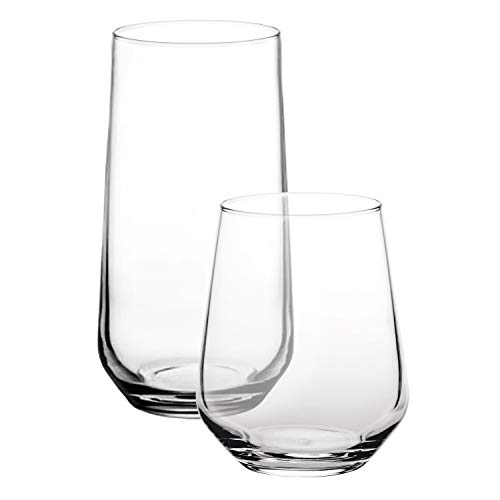Pasabahce Premium Stemless Glass Set | for Soft Cold Drinks, Water, Beverage, Wine Glasses | Lead Free, Decorative and Stylish Home Accessory | Set Of 12 Pcs
