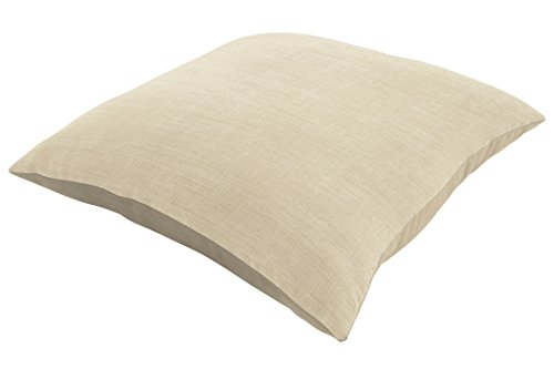 "Eddie Bauer Home Pillow Knife Edge, 16"" L x 16"" W, Canvas Flax - These luxury replacement pillows by Eddie Bauer Home are made with sunbrella performance fabrics The fabric casings are sewn with an increased stitches per inch and surged interior edges The fill material is completely sealed in a water-repellent covering with an UV additive - patio, outdoor-throw-pillows, outdoor-decor - 31O3cXdQTxL -"