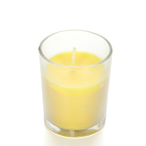 Hosley Highly Scented Set of 24, Citronella, Rosemary, Sage, Lemon Grass Blend, Essential Oils, Votive Candles in Clear Glass. Burns Upto 12 Hours Each. Great Gift for Home, Patio, Gardens O3 by Hosley (Image #3)