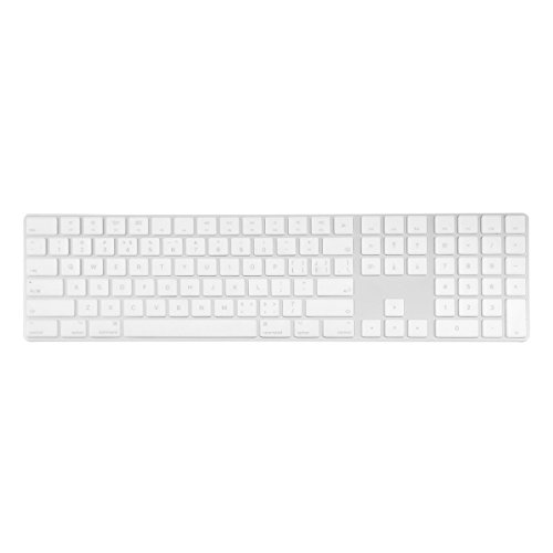 TOP CASE - Ultra Thin Silicone Soft Keyboard Cover Skin Compatible with Apple Magic Keyboard with Numeric Keypad Model: MQ052LL/A A1843 (US Layout, 2017 Released) - Clear