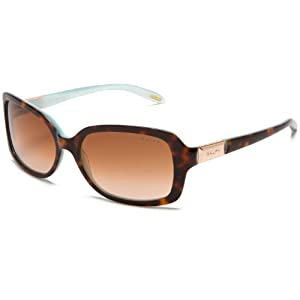 Ralph by Ralph Lauren Women's 0RA5130 601/1358 Rectangle Sunglasses,Tortoise/Turquoise Inside Frame/Brown Gradient Lens,one size