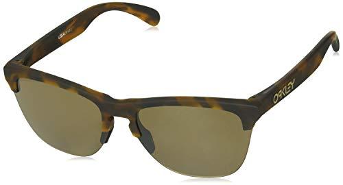 Oakley Tortoise Lens - Oakley Men's OO9374 Frogskins Lite Round Sunglasses, Matte Brown Tortoise/Prizm Tungsten, 63 mm