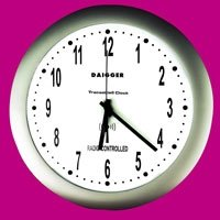 - CONTROL 1077 Round Analog Radio Atomic Wall Clock, 12