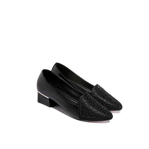 de Negro Sandalias Crudo de 2018 Zapatos 36 netas con de Verano Hilo tamaño tacón Baotou Mujer Zapatos Verano de Las Mujeres Color dCqYXXxwH