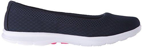 Shoe Step Challenge Mesh Go Women's Skechers Navy Walking Performance White tIwYOxqxp