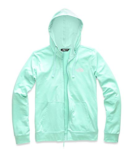 The North Face Women's Fave Lite LFC Full Zip Mint Blue Heather/TNF White Small