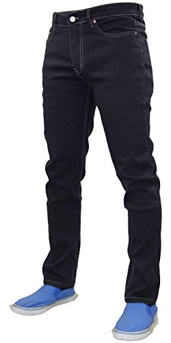 Grey Zip New Jeans Pantalones de G72 Pantalones algodón Slim Fit Fly Stretch Denim Hombres x4dwOS