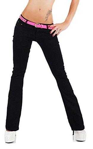Noir Triple XXX - Jeans - Bootcut - Femme Noir noir