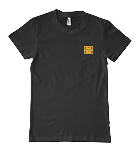 (US Army Republic of Vietnam Gallantry Cross Unit Citation Ribbon Military T-Shirt 100% Cotton Black)