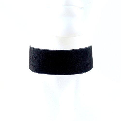 Arthlin Jewelry EXTRA WIDE Black Velvet Choker Necklace 1.5'', Handmade in the - Neck Long Fetish