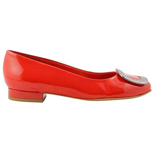 Exclusif para Rojo Bailarinas Paris Mujer r1nqrO