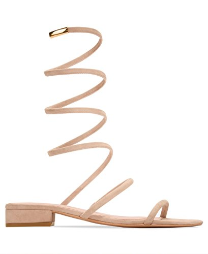 Avec Les Filles Womens Caila Open Toe Casual Ankle Strap Sandals Pink Champagne