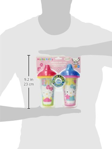 Munchkin Hello Kitty Click Lock 2 Count Insulated Sippy Cup,...