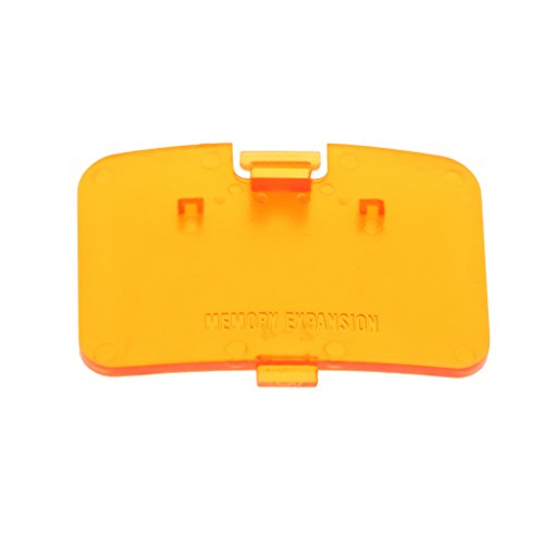 Jili Online Memory Expansion Pack Cover Lid Door Game Card Slot for Nintendo 64 Console-Orange from Jili Online