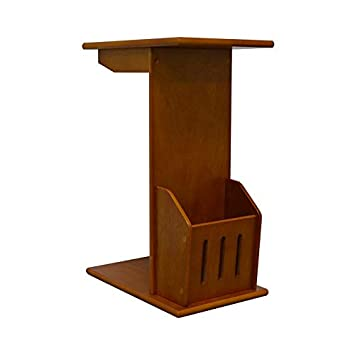 NBLiner Magazine Snack End Table, Side Table Near Couch Home Office Armrest Table, Oak Finish