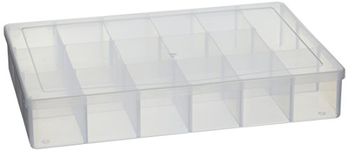 Darice 10762 Plastic Bead Organizer with 17 Compartments, Clear -