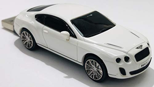 Click Car CCS660578 Bentley Continental Super Sports 8GB USB 2.0 Stick, White